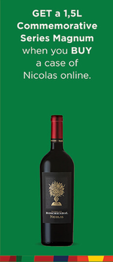 BUY A CASE OF NICOLAS - GET A 1.5L COMMEMORATIVE MAGNUM FREE